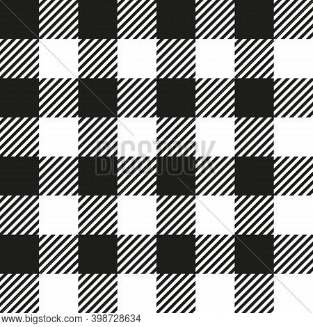 White And Black Buffalo Check Plaid Seamless Pattern Classic Style White And Black Buffalo Check Fla