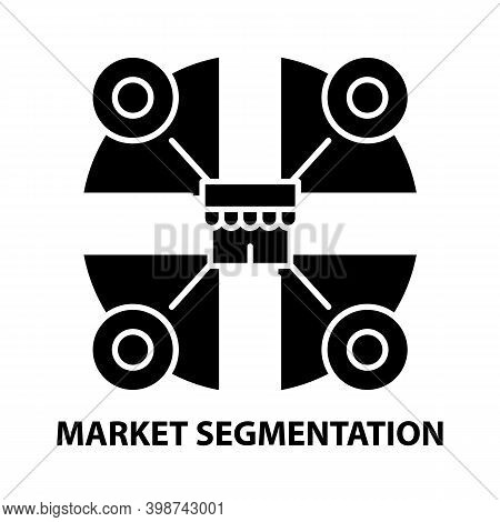 Market Segmentation Icon, Black Vector Sign With Editable Strokes, Concept Illustration