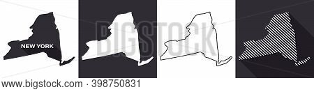 State Of New York. Map Of New York. United States Of America New York. State Maps. Vector Illustrati