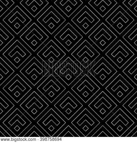 Chevrons, Rhombuses Wallpaper. Japanese Mountains Motif. Ancient Mosaic Backdrop. Oriental Pattern B