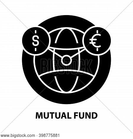 Mutual Fund Icon, Black Vector Sign With Editable Strokes, Concept Illustration