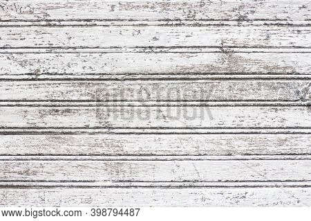 A Wood Boards In White Worn Out Tone. In A Horizontal Position For A Wedding, Christmas Or Any Other