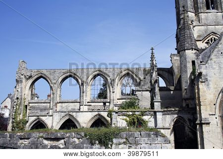 Old Saint-etienne Church Detail