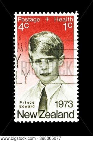New Zealand - Circa 1973 : Cancelled Postage Stamp Printed By New Zealand, That Shows Prince Edward,