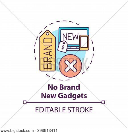 No Brand New Gadgets Concept Icon. Shopping Tip Idea Thin Line Illustration. Purchasing New Tech. Bu