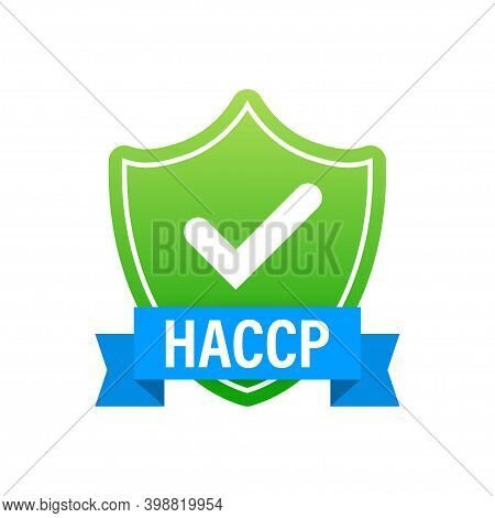 Haccp - Hazard Analysis Critical Control Points Icon With Award Or Checkmark