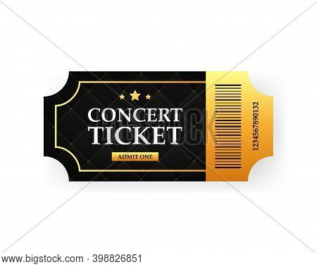 Ticket Concert Invitation, Show, Coupon, Ticket, Pass Admission Entry Entrance.