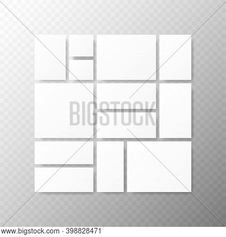 Templates Collage Frames For Photo Or Illustration. Montage Photo Frame Template.