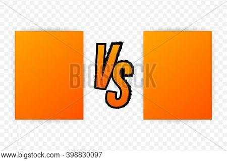 Versus Logo Vs Letters For Sports And Fight Competition. Battle Versus Match, Game Concept Competiti