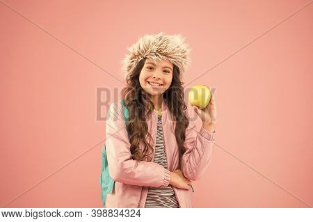 End Of Winter Semester. Holiday And Vacation. Kid Pink Backdrop. Teen Daily Life. Education And Happ