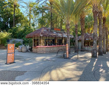 Entrance Of San Diego Safari Park Zoo In San Diego, One Of The Largest Tourist Attractions In San Di