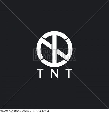 Vector Of Letter Tnt Simple Linked Circle Logo Vector