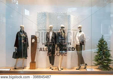 Mango Shop At Emquatier Thailand, Nov 27, 2020; Luxury And Fashionable Brand Window Display. Winter