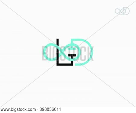 Letter L And G Infinite Logotype On White Background In Vector Illustration