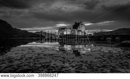 Kyle Of Lochalsh, Scottish Highlands, Scotland, Uk - A Photograph Of The Famous Eilean Donan Castle.