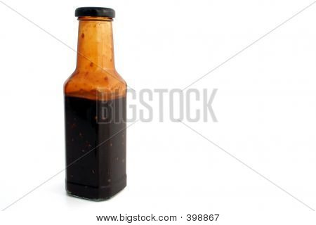 Full Isolated Sauce Bottle