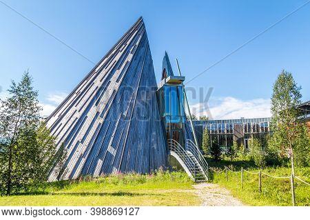 Karasjok, Norway - July 24, 2016: The Sami Parliament Samediggi Sametinget, Representative Body For