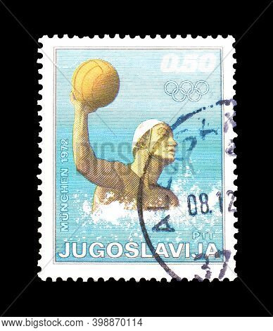 Yugoslavia - Circa 1972 : Cancelled Postage Stamp Printed By Yugoslavia, That Shows Water Polo, Circ