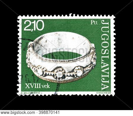 Yugoslavia - Circa 1976 : Cancelled Postage Stamp Printed By Yugoslavia, That Shows Antique Silver R