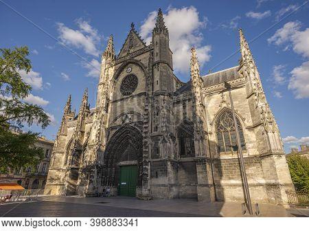 Bordeaux, France - August 13, 2017: Views Of The Basilica Of Saint Michael, Basilique Saint-michel.