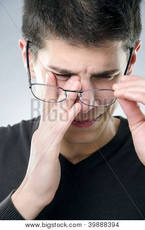 Man With Eyesight Problem