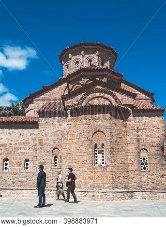 Kalambaka, Greece - May 02, 2019: Holy Monastery Of Great Meteoron, Also Known As The Holy Monastery