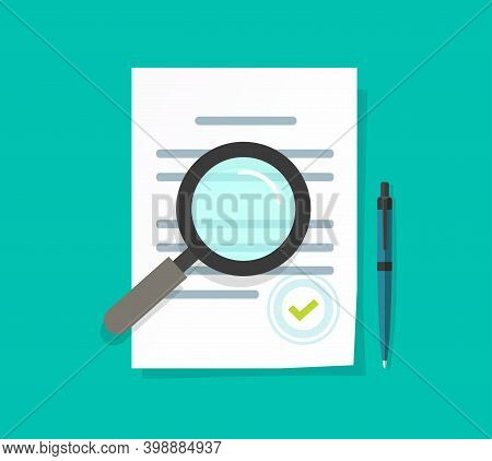 Statement Terms Document Audit Review Vector Flat, Analysis Inspection Of Agreement Contract, Compli