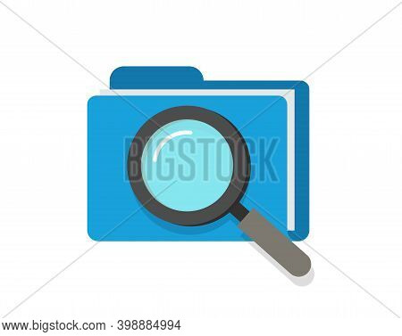 Scan Or Inspection Of File Folder Documents Vector Icon Concept, Audit Review Investigation Of Archi