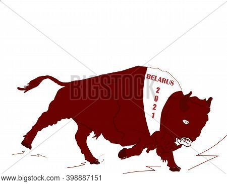 Ox Or Bull Symbol Of 2021 Eastern Asian Horoscope, Chinese Zodiac Sign. Lunar Calendar. Concept Of F
