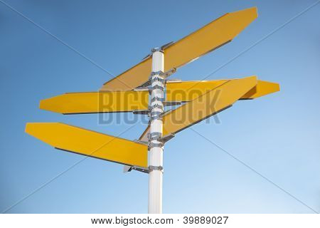 Signpost for adding directions.