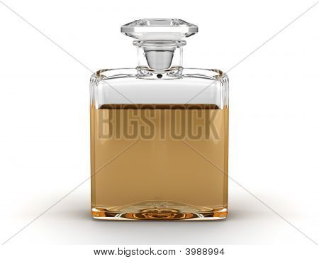 Perfume Bottle Isolated On White Background