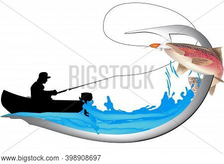 Salmon Trout Sport Fishing Sticker Salmon Trout Sport Fishing Sticker