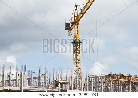 Crance on construction