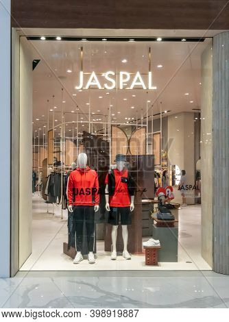 Jaspal Shop At Mega Bangna, Bangkok, Thailand, Nov 28, 2020 : Fashionable Brand Window Display. New