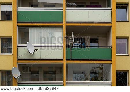 Prague. Czech Republic. 01/12/2020. Panelaks Or Buildings Constructed With Panels During Communist R