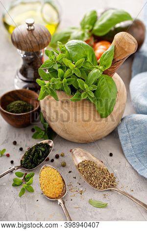 Mix Of Herbs And To Make Greek Seasoning, Mediterranean Cuisine