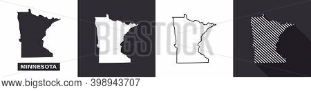 State Of Minnesota. Map Of Minnesota. United States Of America Minnesota. State Maps. Vector Illustr