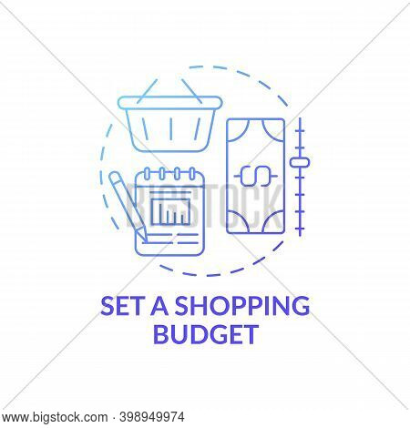 Setting Shopping Budget Concept Icon. Shopping Tip Idea Thin Line Illustration. Tracking Money Spend