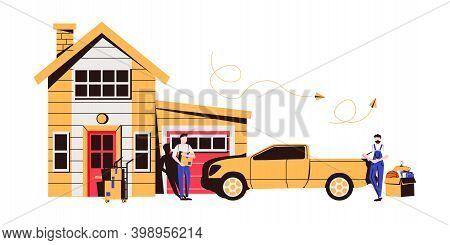 Get Supplies Without Leaving Your Car Abstract Concept Vector Illustration. Curbside Pickup, Order N