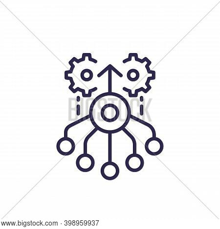 Combined Effort Line Icon, Vector, Eps 10 File, Easy To Edit