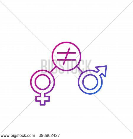 Gender Equity Icon, Trendy Line Vector, Eps 10 File, Easy To Edit