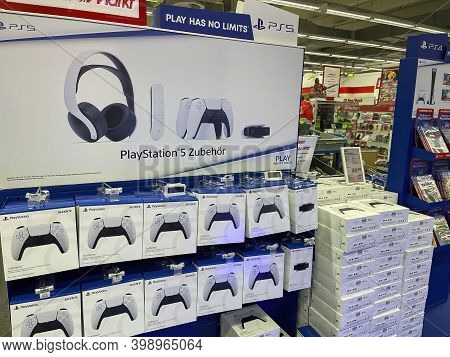 Frankfurt, Germany - 10th December 2020: A German Photographer Looking For The New Playstation 5 (ps