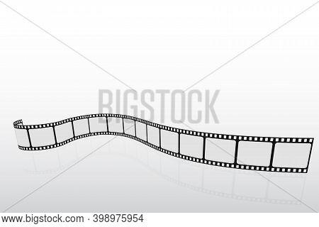 Isometric Film Strip. Movie Template Concept For Festival, Banner, Brochure, Flyer, Leaflet, Poster.