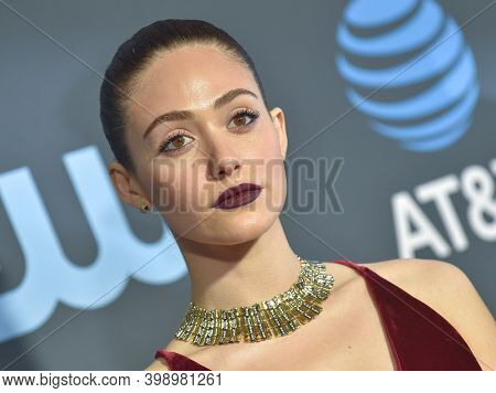 LOS ANGELES - JAN 13:  Emmy Rossum {Object} arrives for '24th Annual Critics' Choice Awards on January 13, 2019 0 in Santa Monica, CA