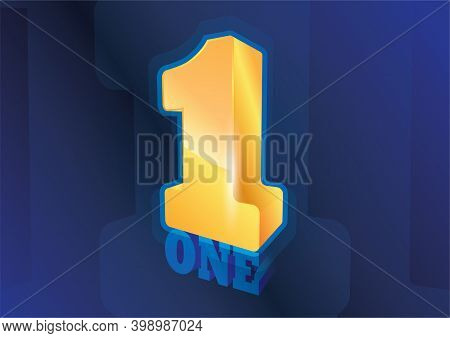 Number One, Golden Winner Best Champion Symbol,