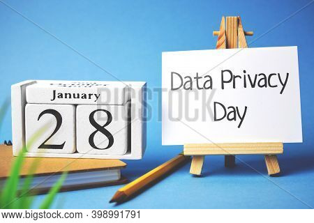Data Privacy Day Of Winter Month Calendar January.