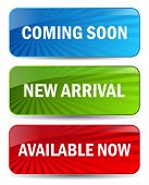 Vector coming soon banners isolated on white background poster