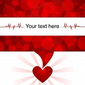 Blood donation background/Text bubble with abstract blood-cells,heart and space for text poster