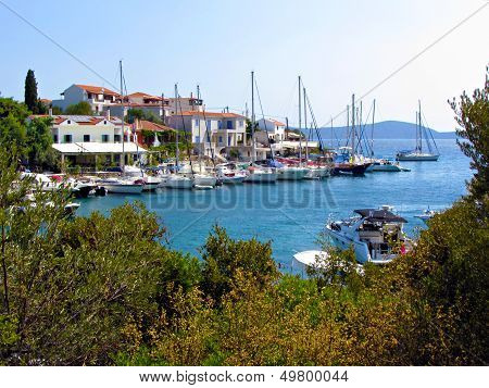 Beautiful village in Alonissos island
