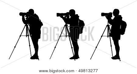 Photographer Silhouettes Set 1